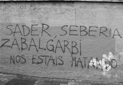 Sader, Seberia, Zabalgarbi Nos estáis matando